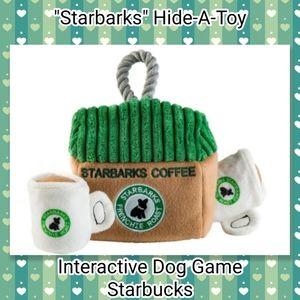 Starbucks Dog Toy Starbarks Coffee Game Puzzle NEW